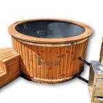 Bain nordique jacuzzi avec poêle extérieur bois - gaz - diesel