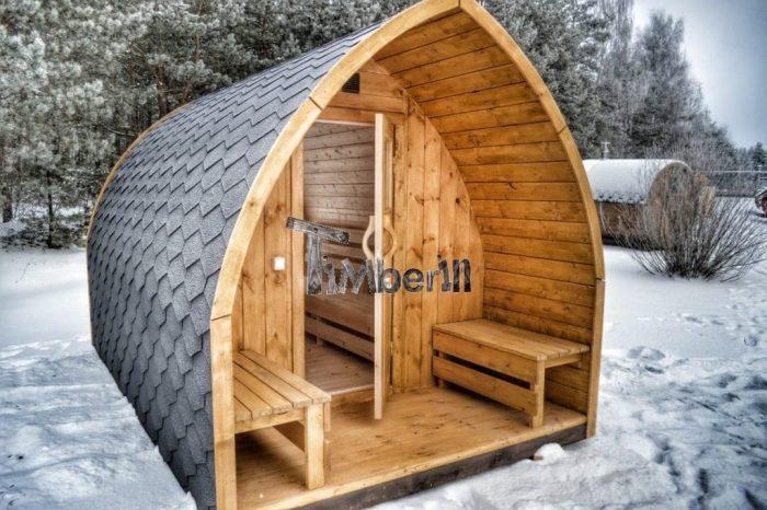 sauna exterieur avec vestiaire