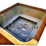 Bain nordique spa en bois rectangulaire