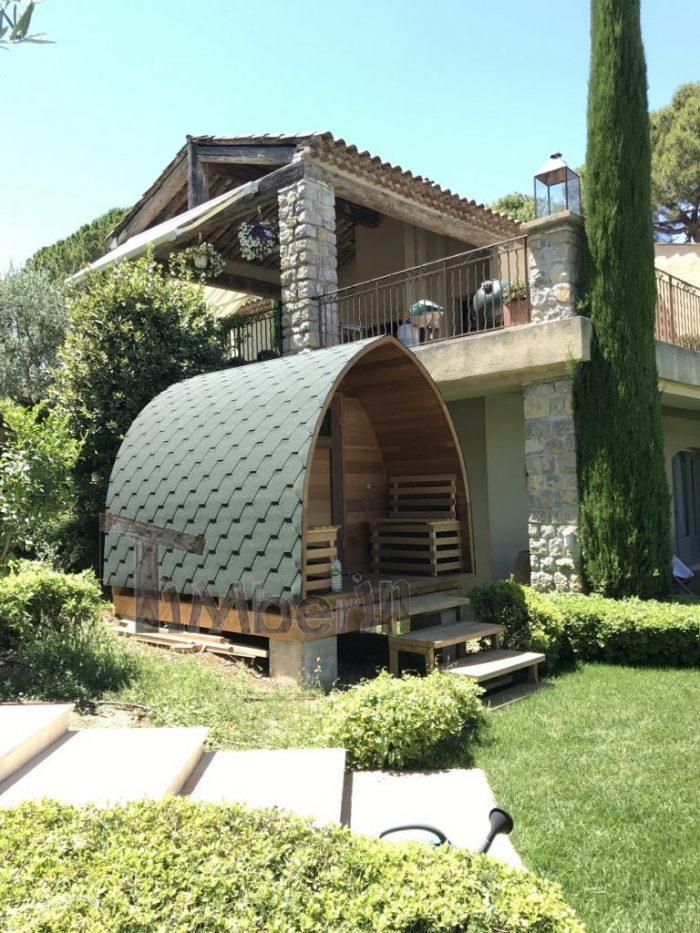 Sauna Extérieur Iglu En Cèdre Rouge Avec Chauffage électrique, Dmitrii, Biot, France