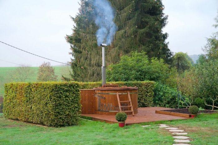 Jacuzzi Extérieur En Thermo Bois Deluxe, Jean Phillippe, La Neuville En Beine, France (1)