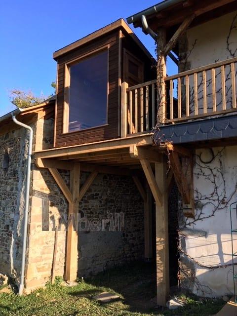 Moderne Sauna D'extérieur, Jean Marc, Saucede, France (10)