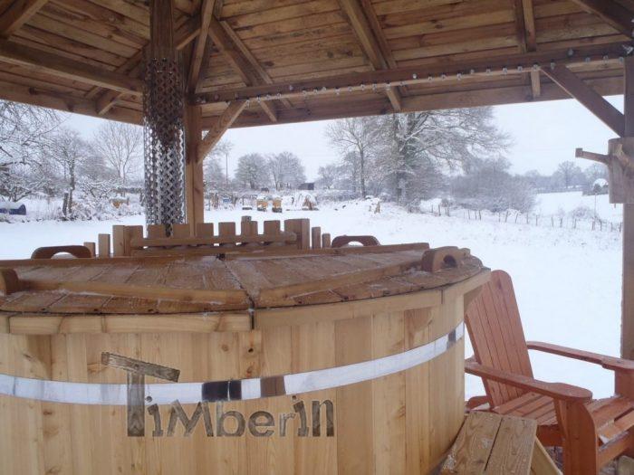 Bain Suédois en Bois épinette de Sibérie, mélèze Deluxe, Philippe, SOUMANS, France