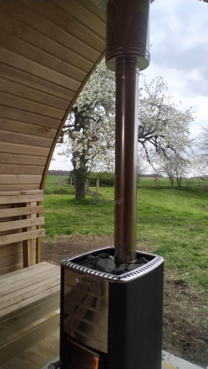 Jardin Extérieur Sauna En Bois Igloo Design, Caroline, LE GRAND PRESSIGNY, France (6)