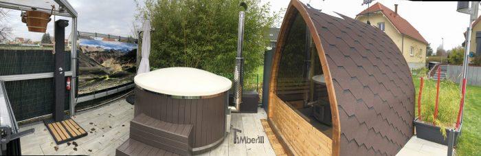 Bain Nordique Avec SMART Poêle à Granulés, Sauna Extérieur Jardin Iglu, José, HAGUENAU, France (3)