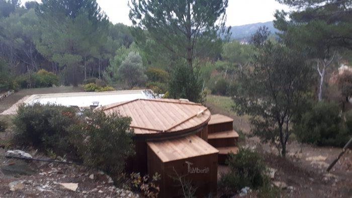 Bain Nordique Jacuzzi Avec Poêle Extérieur Bois Gaz Diesel, Childéric, LA BOUILLADISSE, France (3)